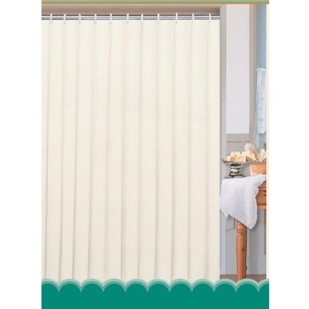 Duschvorhang 180x200cm, 100% Polyester, weiß