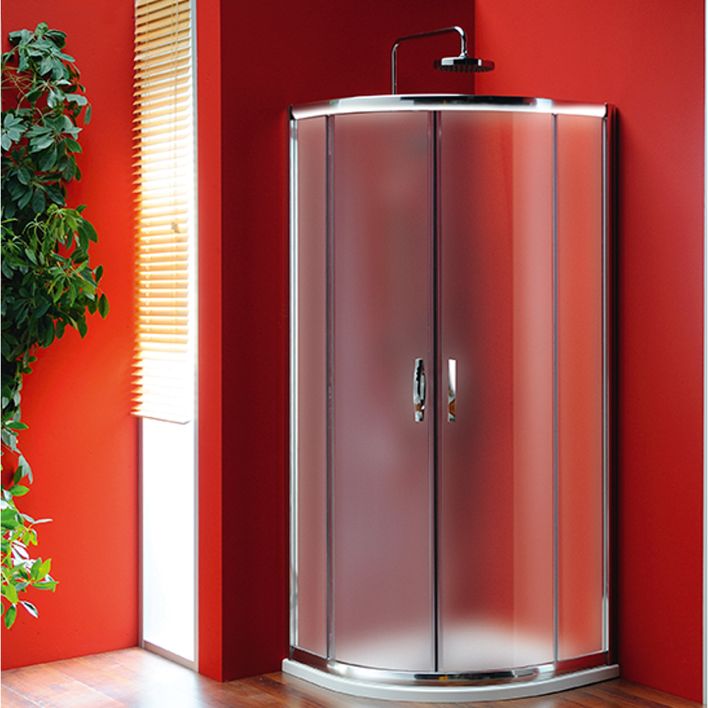 SIGMA Duschabtrennung Viertelkreis 800x800mm, R550, 2x Tür, Glas Brick