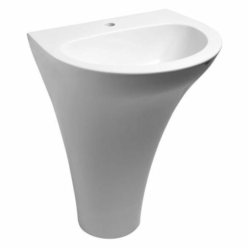 AQUATECH Keramik-Waschtisch 60x85x51 cm, ohne Überlauffunktion