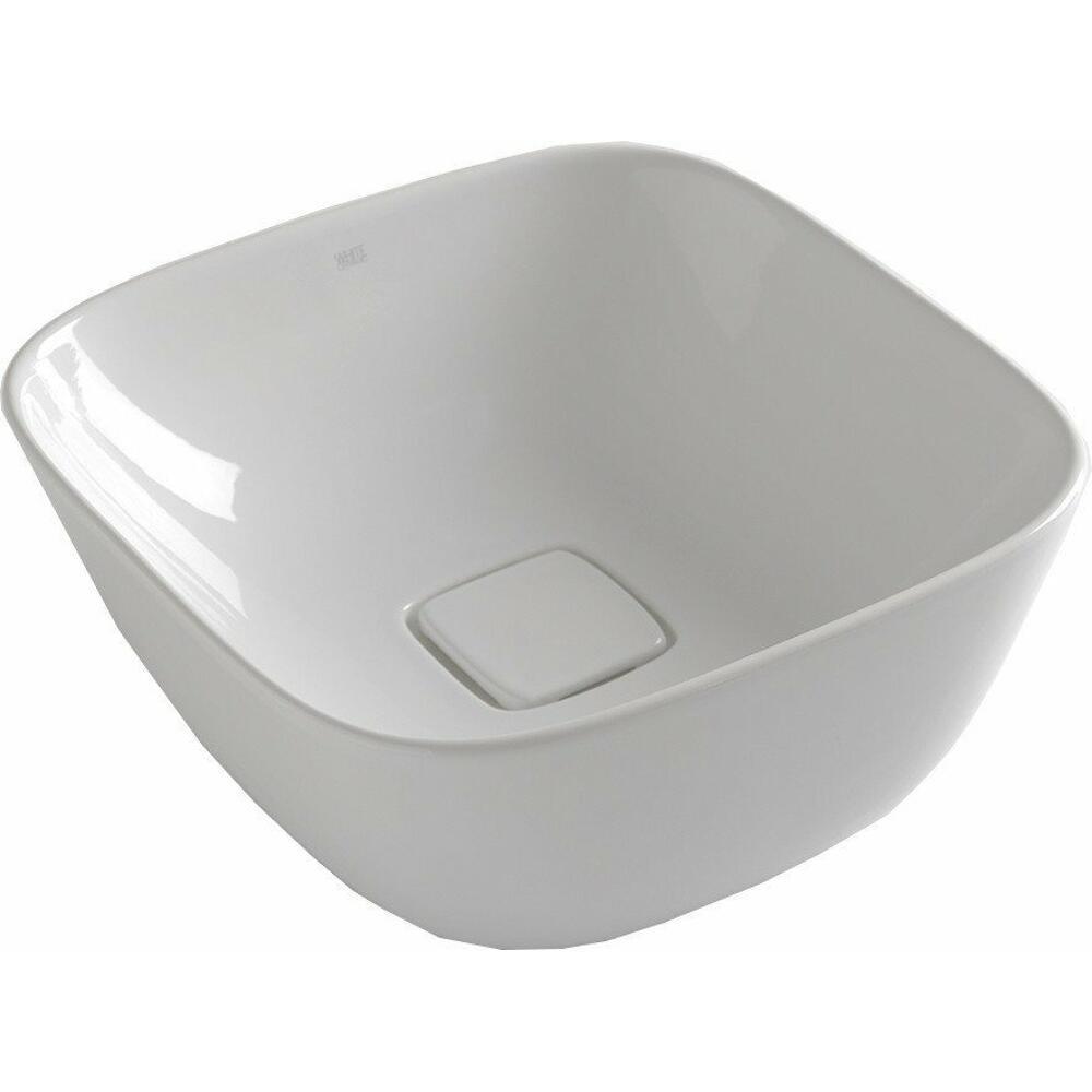 SOFT Keramik-Waschtisch 42,5x18,5x42,5 cm, zum Aufsetzen, ohne Überlauf