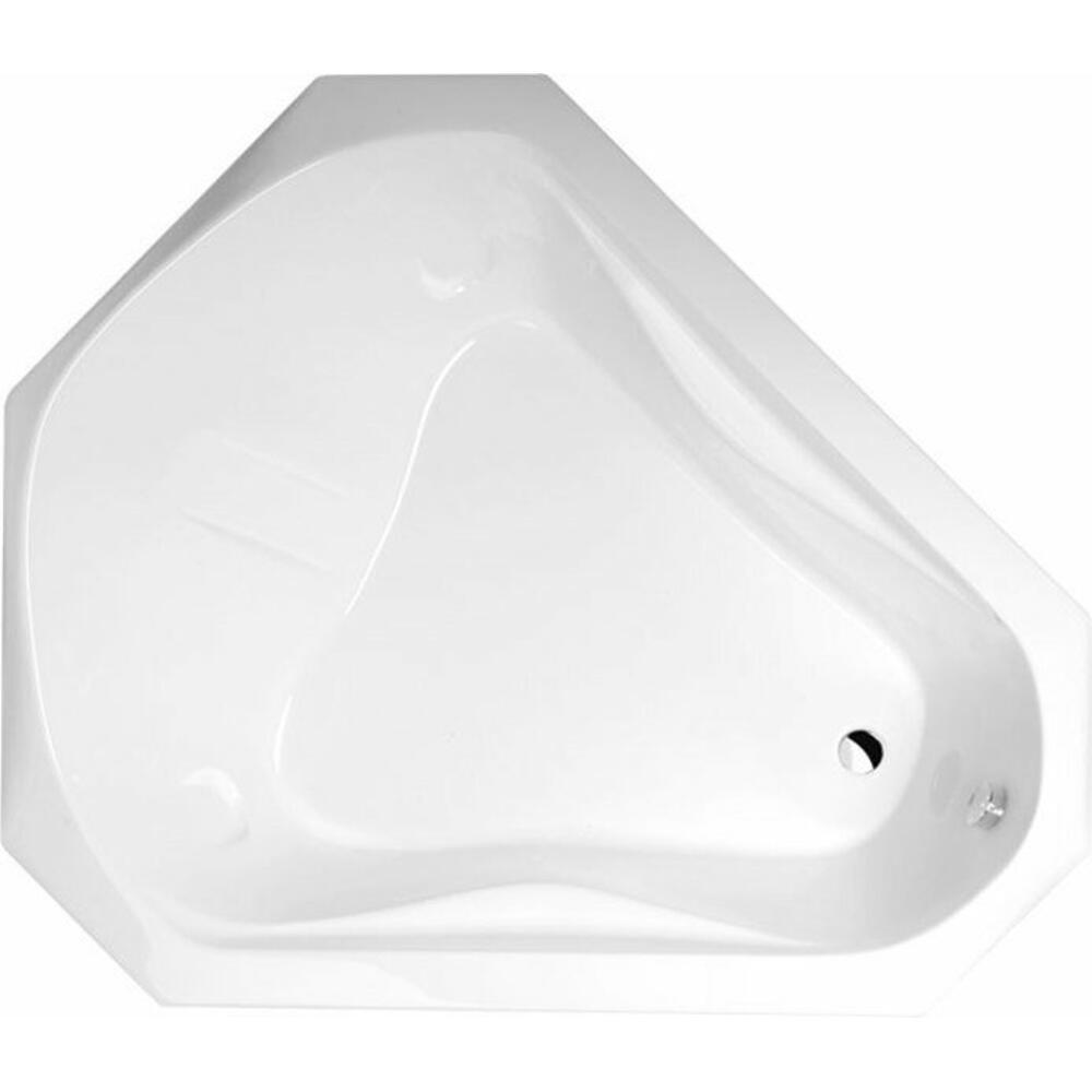 SAMORA Acryl-Badewanne 163x139x51cm, weiß