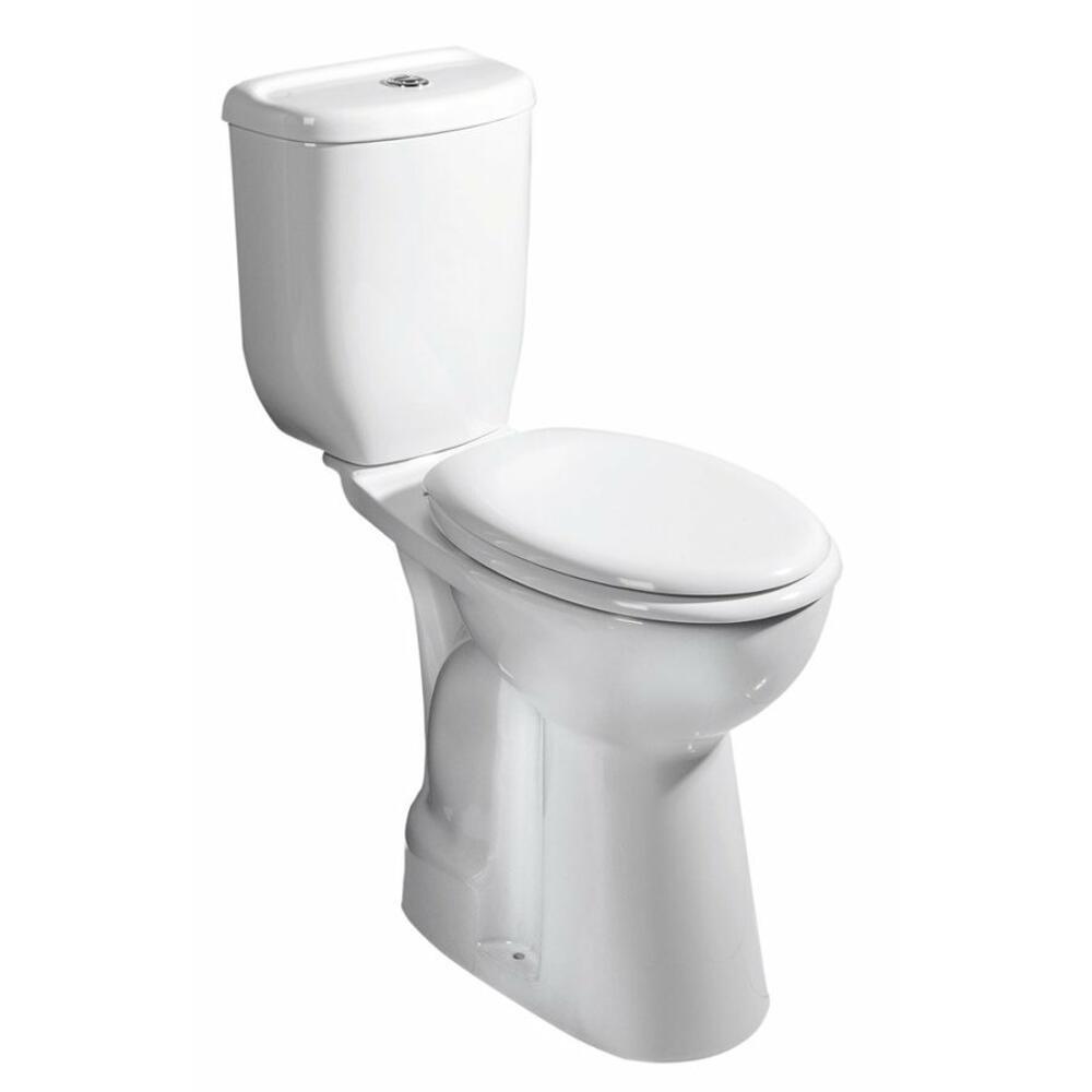 Kombi-WC erhöht, 36,3x67,2cm, Abgang senkrecht