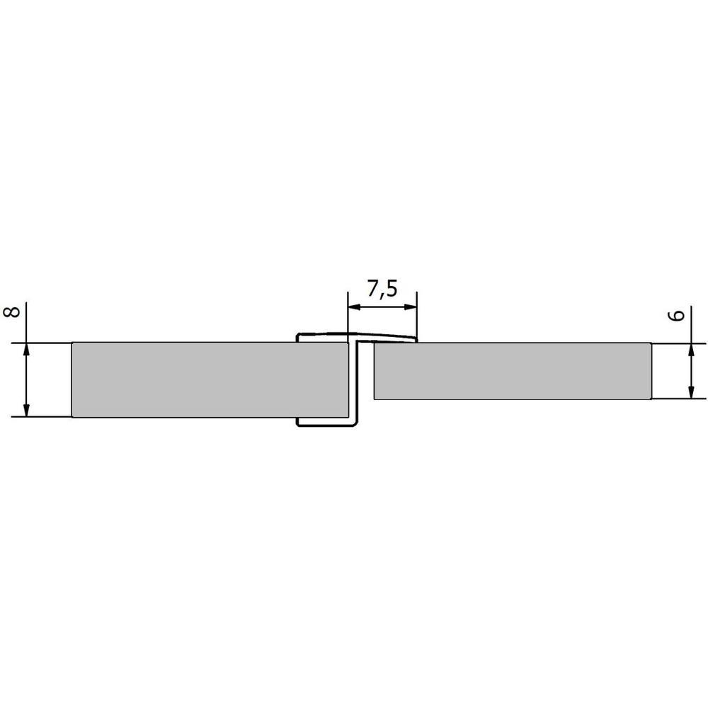 VITRA LINE Acryl-Dichtung zwischen Glas/Glas (6/8mm), Länge 2000mm