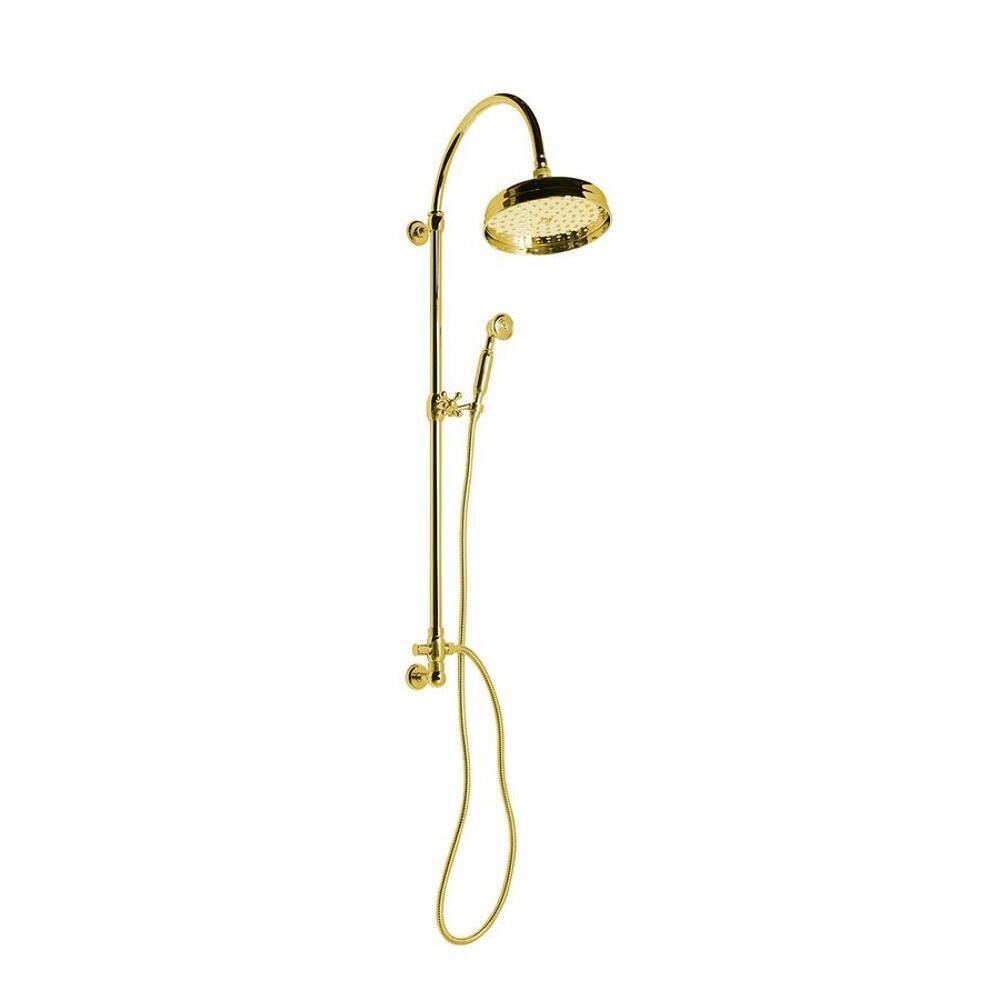 VANITY Duschsäule mit Wandanschluss, 977-1302mm, Gold