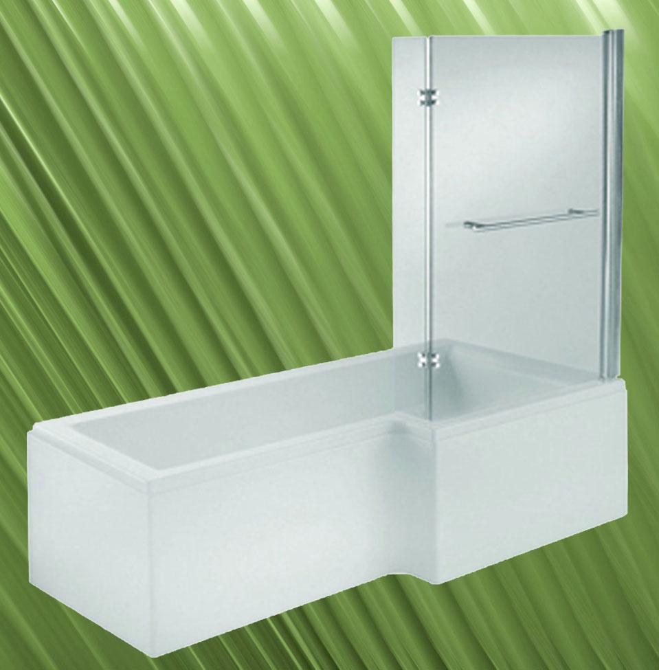 raumspar badewanne mit duschzone 150x85 70cm rechts wei. Black Bedroom Furniture Sets. Home Design Ideas