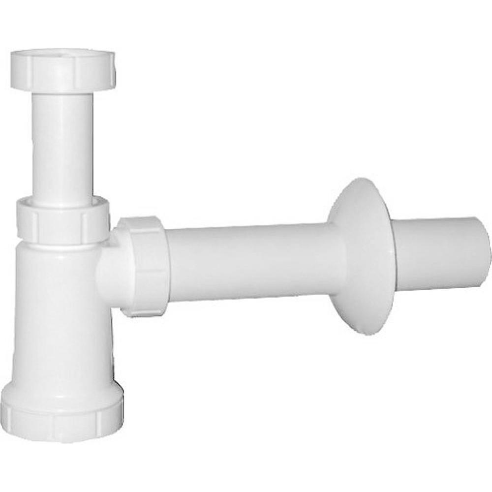 Waschtisch-Siphon mit Überwurfmutter 5/4', Abfluss 40 mm, Plast