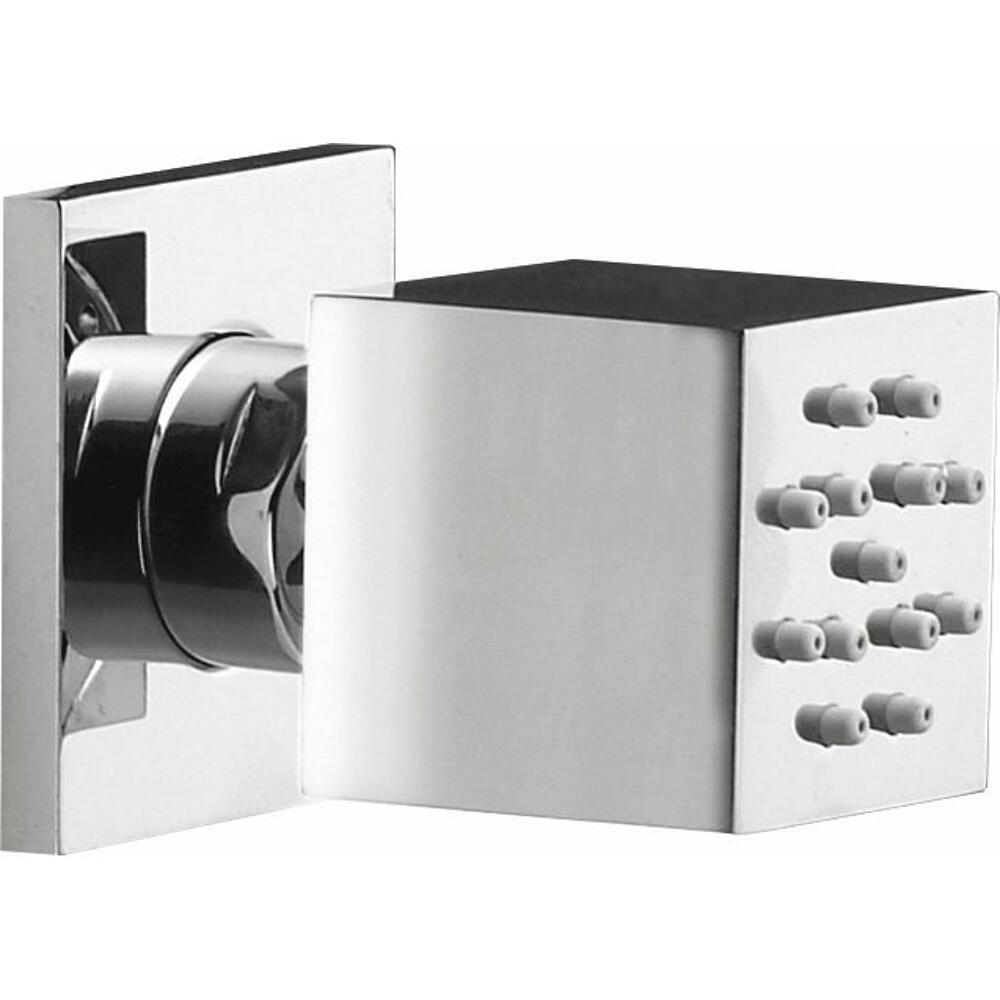 Seitenbrause mit Drehgelenk, 35x35mm, Chrom
