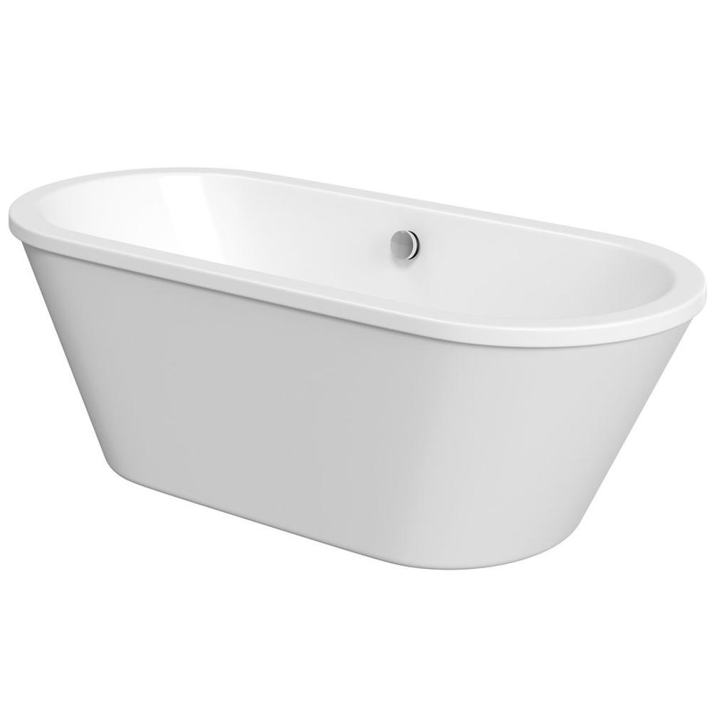 LABE freistehende Badewanne, 170x76x57 cm, weiß