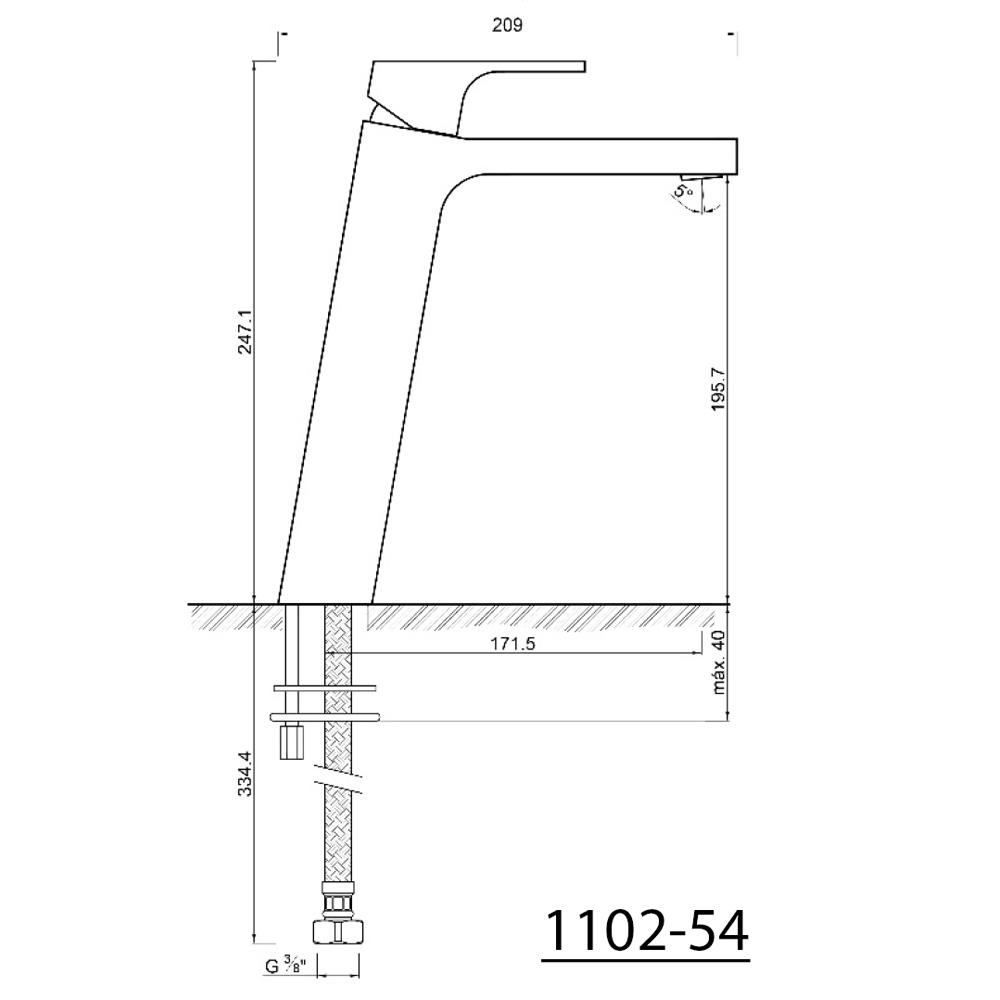 Einbauhohe Unterputz Armatur Dusche - Konzept Armaturen