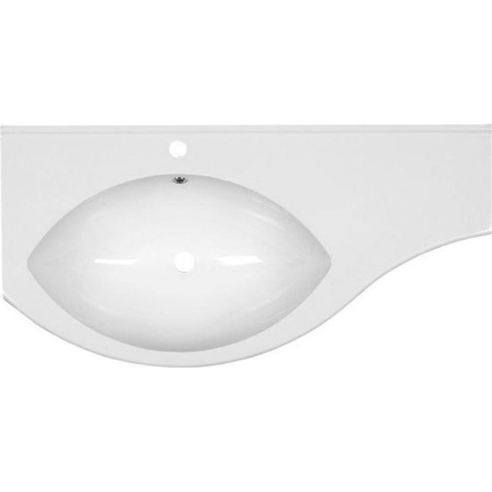 ISOBEL GussmarmorWaschtisch mit Ablage rechts 110x55cm, weiß