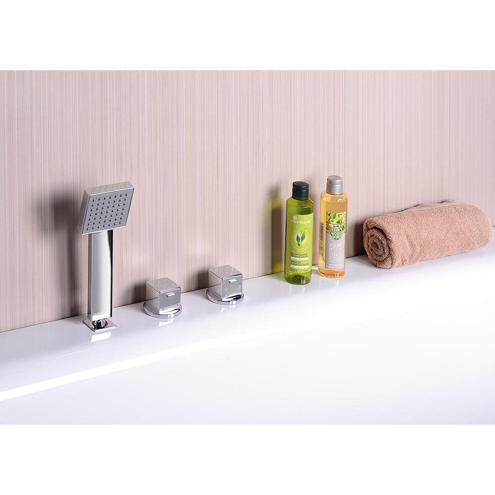 KVADRA Badewanne mit Rahmengestell, 170R, mit Armatur und Dusche
