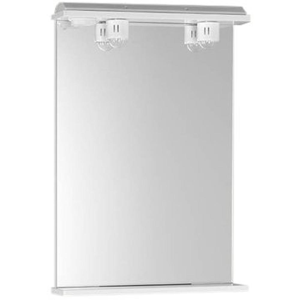 ekoset spiegel mit beleuchtung 60x75x12cm weiss. Black Bedroom Furniture Sets. Home Design Ideas