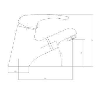 KASIOPEA Waschtischarmatur mit ausziehbarer Spülbrause, Chrom