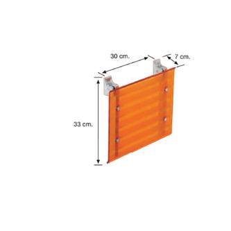 LEO Duschsitz 40x31cm, rot