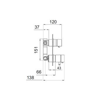 RHAPSODY Thermostat-Dusch-Armatur, 3 Wege, Chrom