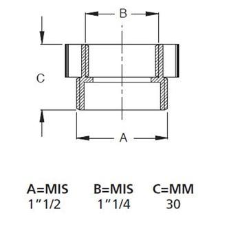 Reduktion 1'1/2 M - 1'1/4 F, weiß