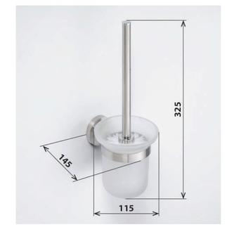 X-STEEL WC Wand WC-Bürste, gebürsteter Edelstahl