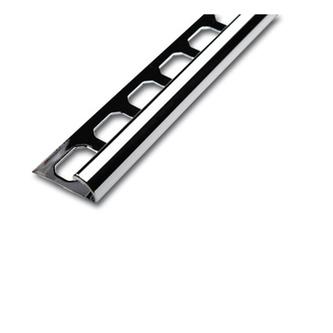 Viertelkreisprofil aus Edelstahl , verchromt, 250cm lang, 10mm hoch