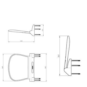 SOUND Duschsitz 38,5x35,4cm, klappbar, weiß/chrom