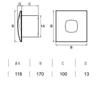 SILENTIS 12 Badlüfter axial, 20W, Rohrleitung 120mm, weiß