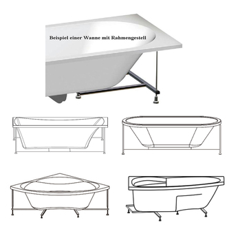 Rahmengestell zu Badewanne Krysta 180x80cm