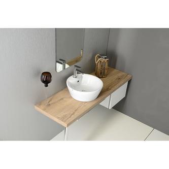 ARCO PLUS Keramik-Waschtisch 47x17cm, zum Aufsetzen
