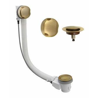 Bronze Ablaufgarnitur mit Bowden, Länge 875mm, Stöpseldurchmesser 42mm,