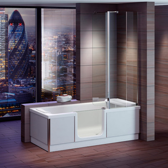 STYLE Badewanne mit Tür/Seniorenbadewanne 180x80cm  Ausführung Links