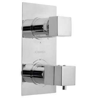 LATUS Thermostat-Dusch-Armatur , 2 Wege, Chrom