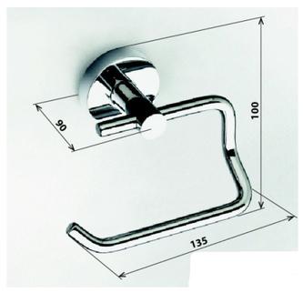X-ROUND  E Toilettenpapierhalter ohne Deckel, Chrom