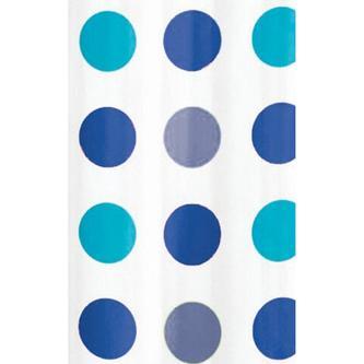 Duschvorhang 180x180cm, Vinyl, blauer Punkt
