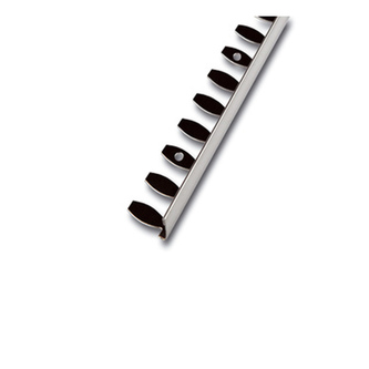 Radialabschlussprofil, Kurvenprofil, Edelstahl ,glänzend, 250 cm, Höhe 4,5mm