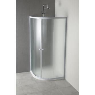 ARLEN Duschabtrennung Viertelkreis 80x80cm, Glas BRICK
