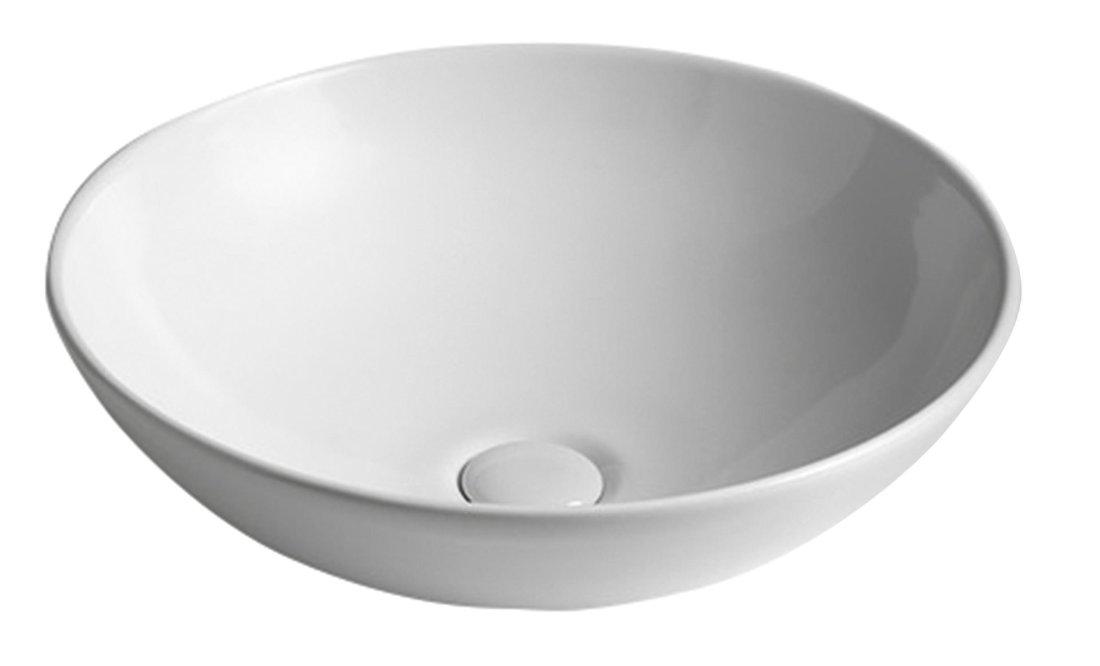 DIMP Keramik-Waschtisch, Durchmesser 46 cm, zum Aufsetzen