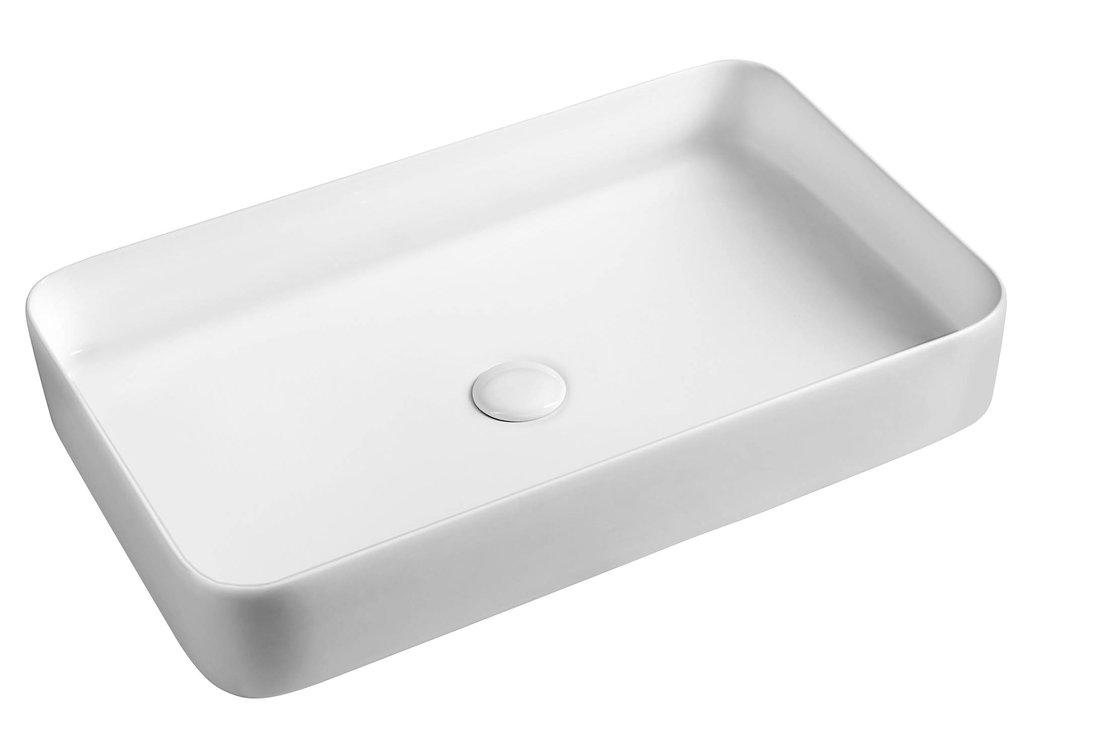 BLADE Keramik-Waschtisch 65x11x40 cm zum Aufsetzen, ohne Überlauf