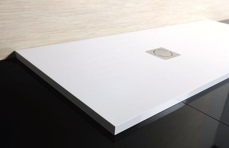FLEXIA Gussmarmor-Duschwanne, 180x100x3,5cm