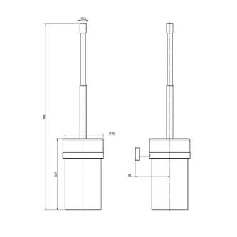 OLYMP WC-Bürste zum Einhängen, Keramik, Chrom