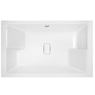 DUETT Doppel-Badewanne mit Füßen 180x120x46cm, mit Designabdeckung weiß