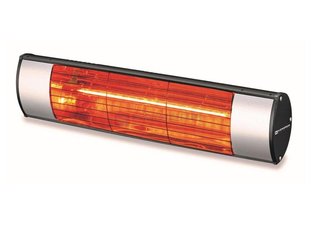 Infrarotstrahler Soleado 1500 W, 510x85x120 mm, Silver