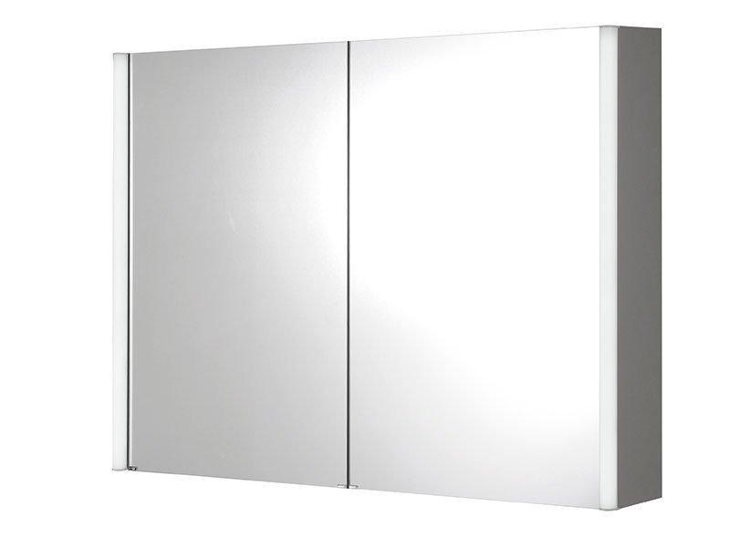 ALIX Spiegelschrank mit LED Beleuchtung, 100x74,5x15cm
