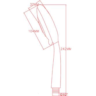 Handmassagebrause, 5 Strahlarten, Durchmesser 110mm, ABS / Chrom