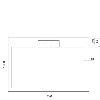 IRENA Duschwanne 150x100x3,5cm weiß