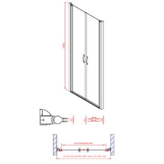 ONE Duschtür für Nische 880-920 mm, 6 mm Klarglas