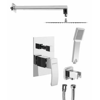 GINKO Unterputz Duscharmatur mit Einhebelmischer, 2 Wege, Chrom, Komplett Set