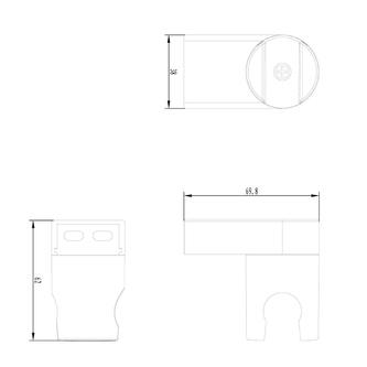 Brausehalter, drehbar, ABS/Chrom