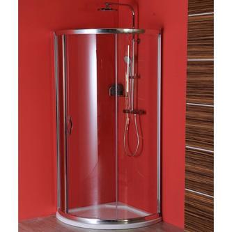 SIGMA Duschabtrennung Viertelkreis 800x800mm, R590, 1x Tür, Klarglas