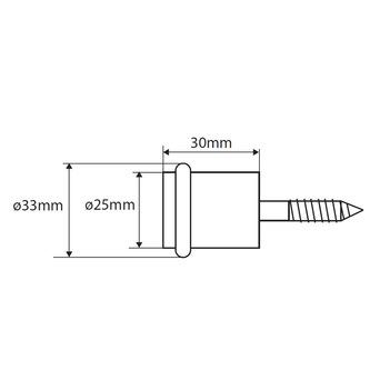 Fussboden Türanschlag 25x30mm, Chrom