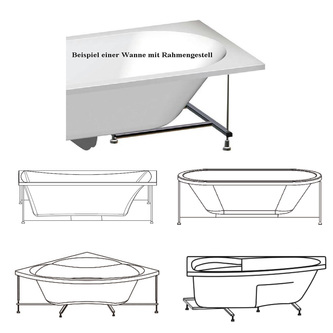 Rahmengestell zu Badewanne Mamba 160 R