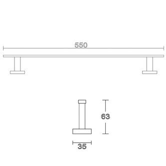 APOLLO Handtuchhalter 550mm, chrom