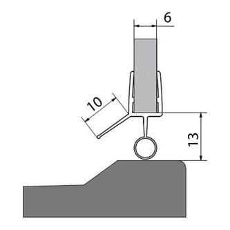 VITRA LINE Acryl-Dichtung für Tür 1000mm für 6mm Glas